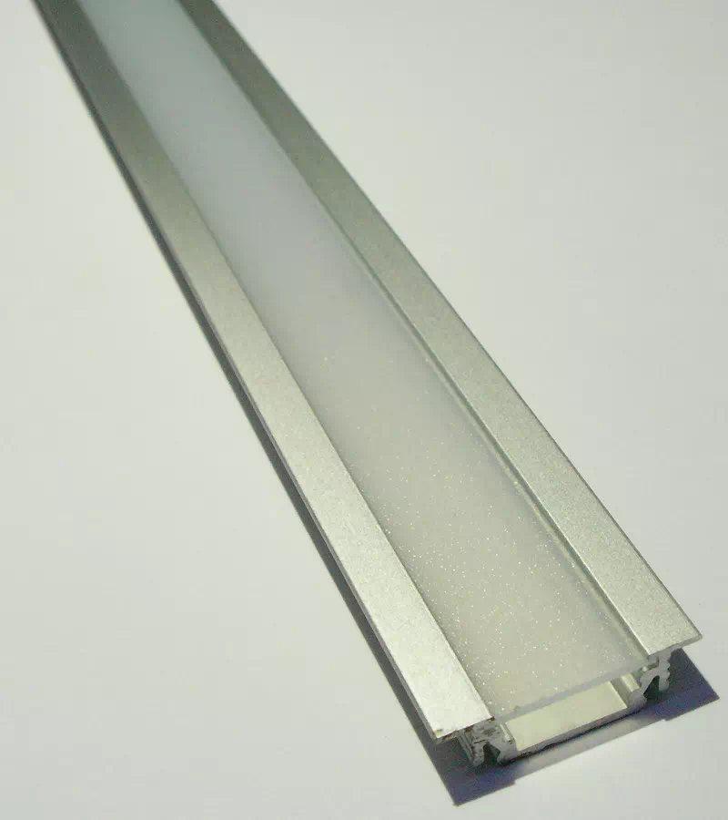 Maxilight Eloxált Alu beépíthető LED-profil + félopál takaró, 2m