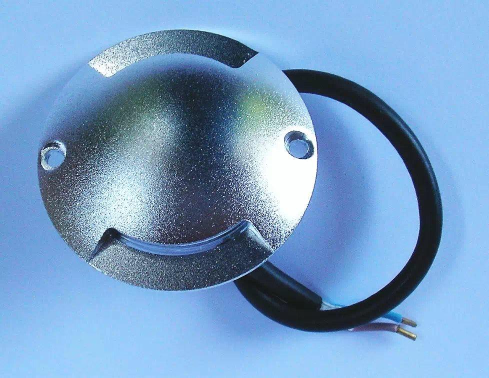 Padlóra ráépíthető LED IP68 alumínium kerettel, melegfehér