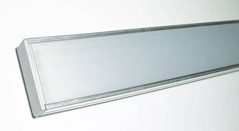 Maxi széles Alu ráépíthető félopál 2 méteres LED-profil végzáróval