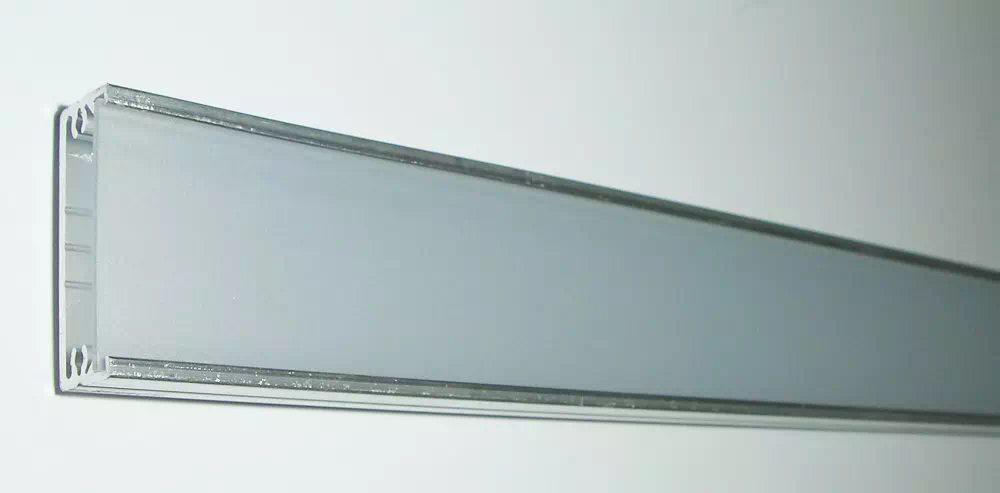 Maxi széles Alu ráépíthető félopál 2 méteres LED-profil