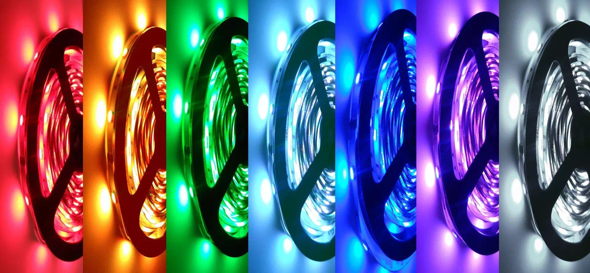Pannon 150 LED (5050SMD) beltéri LED-szalag 5m, RGB