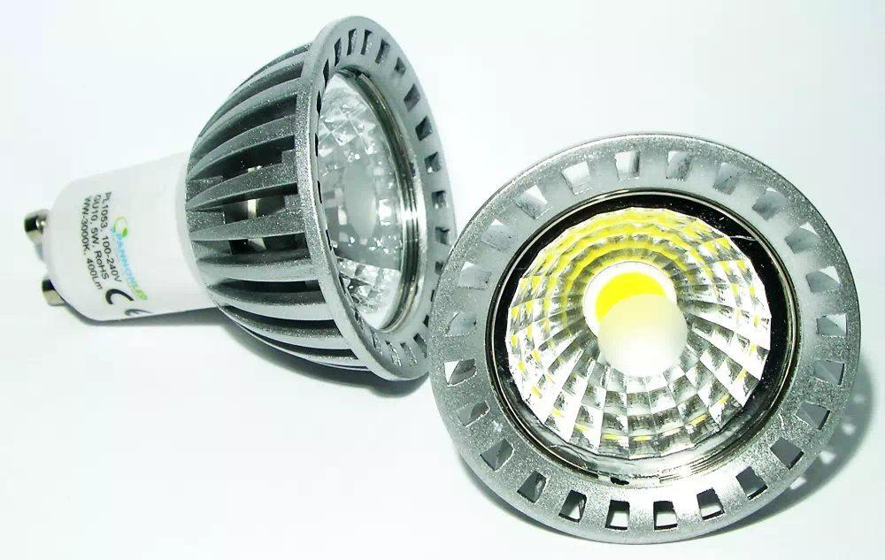 Pannon 5W COB LED spot GU10 (melegfehér)